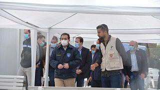 Νότης Μηταράκης στη Μόρια: Απαιτείται περισσότερη εγρήγορση στη β' φάση λόγω COVID-19