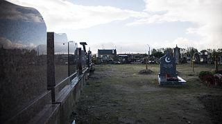 Calais kentindeki Müslüman mezarlığı