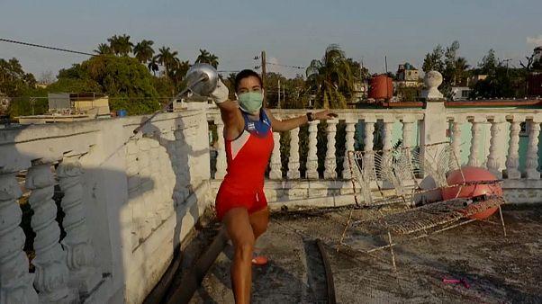 La fórmula cubana, entrenar en la azotea cuando el confinamiento aprieta