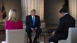 الرئيس الأمريكي دونالد ترامب أثناء حديثه لقناة فوكس نيوز