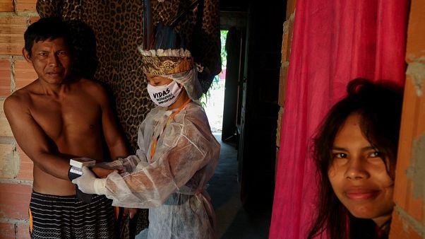Brezilya yerli halkları, Covid-19