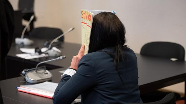 Omaima M., a German-Tunisian woman on May 4, 2020 at the higher regional court in Hamburg.