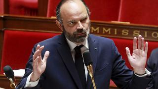 French Prime Minister Edouard Philippe during a session of questions to the government at the National Assembly