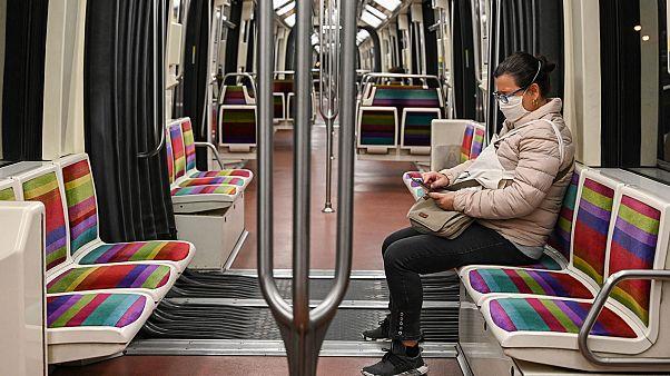 La ligne 1 du métro parisien, le 4 mai 2020.