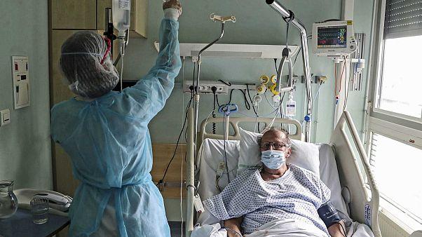 مستشفى Emile Muller، ميلوز، شرق فرنسا، 29 أبريل 2020