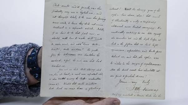 رسالة مؤرخة عام 1900 من قبل محرر قاموس أكسفورد الإنجليزي جيمس موراي