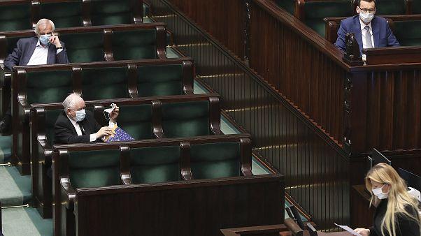 Зал польского парламента