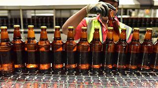Biraları kontrol eden çalışan