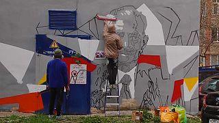 Zum 9. Mai: Street-Art zu Ehren der Kriegshelden