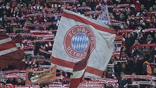 Ultras du Bayern Munich, le 11 mars 2015, dans l'antre de leur club l'Allianz Arena.