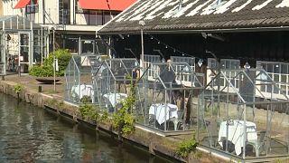 شاهد: مطعم هولندي يقدم وجبات للزبائن داخل بيت زجاجي احتراما لقواعد التباعد الاجتماعي