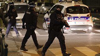 Polizeieinsatz in Villeneuve-la-Garenne am 20. April 2020.