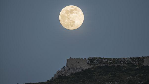 Greece Moon
