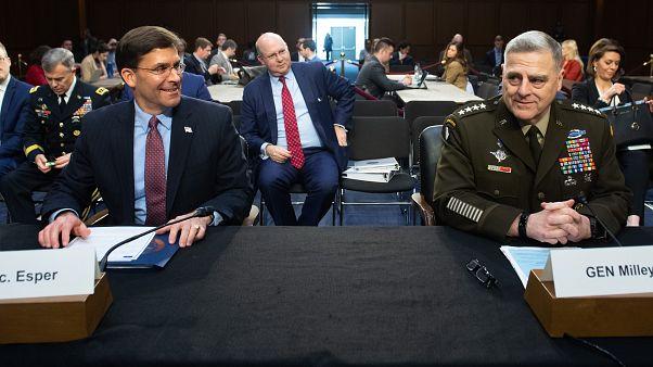 وزير الدفاع الأمريكي مارك إسبر ورئيس هيئة الأركان المشتركة الجنرال مارك أ. ميللي
