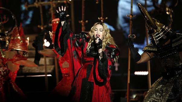 December 9, 2015, US singer Madonna concert at The AccorHotels Arena in Paris.