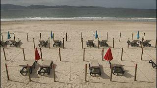 Sanxenxo apresenta praia para respeitar o distanciamento social