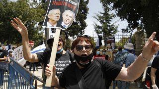 ویدئو؛ تظاهرات علیه بنیامین نتانیاهو در خیابانهای تلآویو