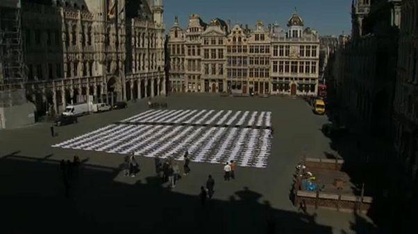 Demo von Hotel- und Restaurantbetreibern in Brüssel