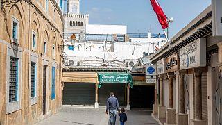 متاجر مغلقة في تونس - المدينة العتيقة - 2020/03/20