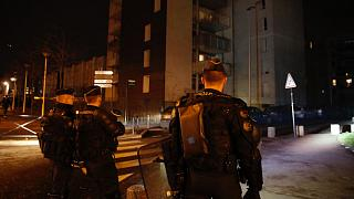 File - French gendarmes take positions to prevent clashes with youths in Aulnay-sous-Bois, north of Paris, France, Tuesday, Feb. 7, 2017