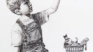 British street artist Banksy donated his latest piece to the University Hospital Southampton
