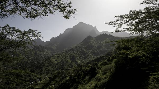 A mountain around the agricultural city of Assomada is pictured on October 8, 2019 in Santiago. (Photo by JOHN WESSELS / AFP)