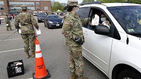 عناصر من الجيش في ولاية كونيتيكت الأميركية