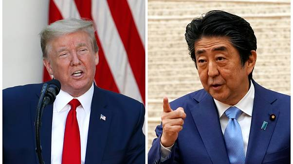 ABD Başkanı Donald Trump ile Japonya Başbakanı Şinzo Abe