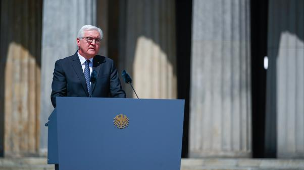 Deutscher Bundespräsident Frank-Walter Steinmeier (Photo by HANNIBAL HANSCHKE / POOL / AFP)
