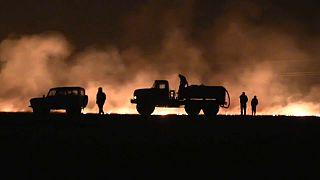 Vastas porções da Sibéria estão em chamas