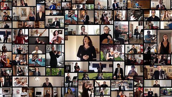 اجرای مجازی یک قطعه اپرای جوزپه وردی از خانههای هنرمندان