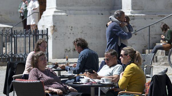 Germany has re-opened beer gardens as it eases lockdowns