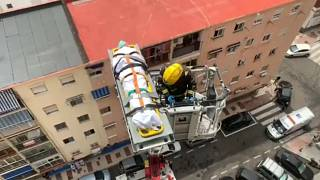 Vertiginoso rescate en Málaga