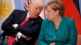 ABD Başkanı Donald Trump - Almanya Başbakanı Angela Merkel  (arşiv)