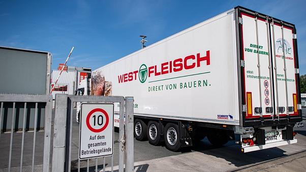 Westfleisch meat processing company in Coesfeld, on May 8, 2020. -
