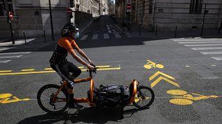Neue Radwege in Paris