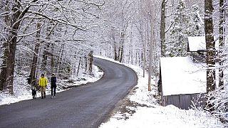 Májusi havazás az Egyesült Államokban