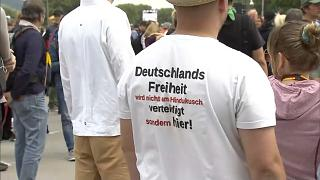 Protest in Stuttgart against German restrictions in place to fight COVID-19