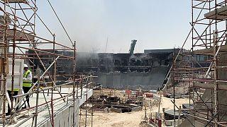 حريق في موقع إكسبو دبي 2020