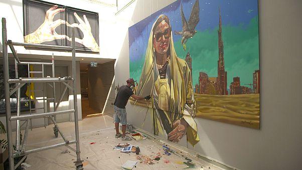 Artistas europeos expresan su arte en Dubai a pesar del cierre por el coronavirus