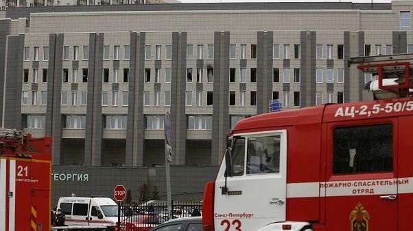 St. Petersburg'da, Covid-19 vakalarının tedavi edildiği hastanede çıkan yangında 5 kişi yaşamını yitirdi