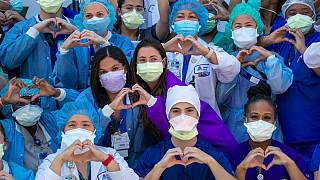 Enfermeiros de Queens, em Nova Iorque, assinalam Dia Internacional do Enfermeiro