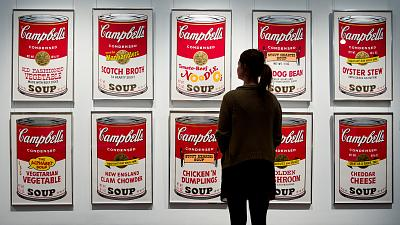 Andy Warhol's 'Campbell's Soup' at Sotheby's auction house, London