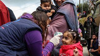 Yunanistan'da göçmen kampı