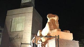 كباش الكرنك تزين ميدان التحرير في مصر وجدل حول نقلها