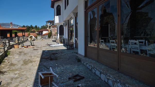 صورة الفندق بعد تخريبه