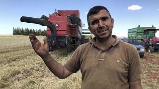Kilis'te bir çiftçi ve tarlası, arşiv