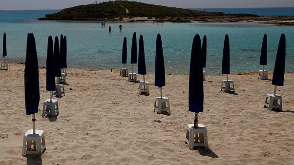 Une plage vide à Chypre