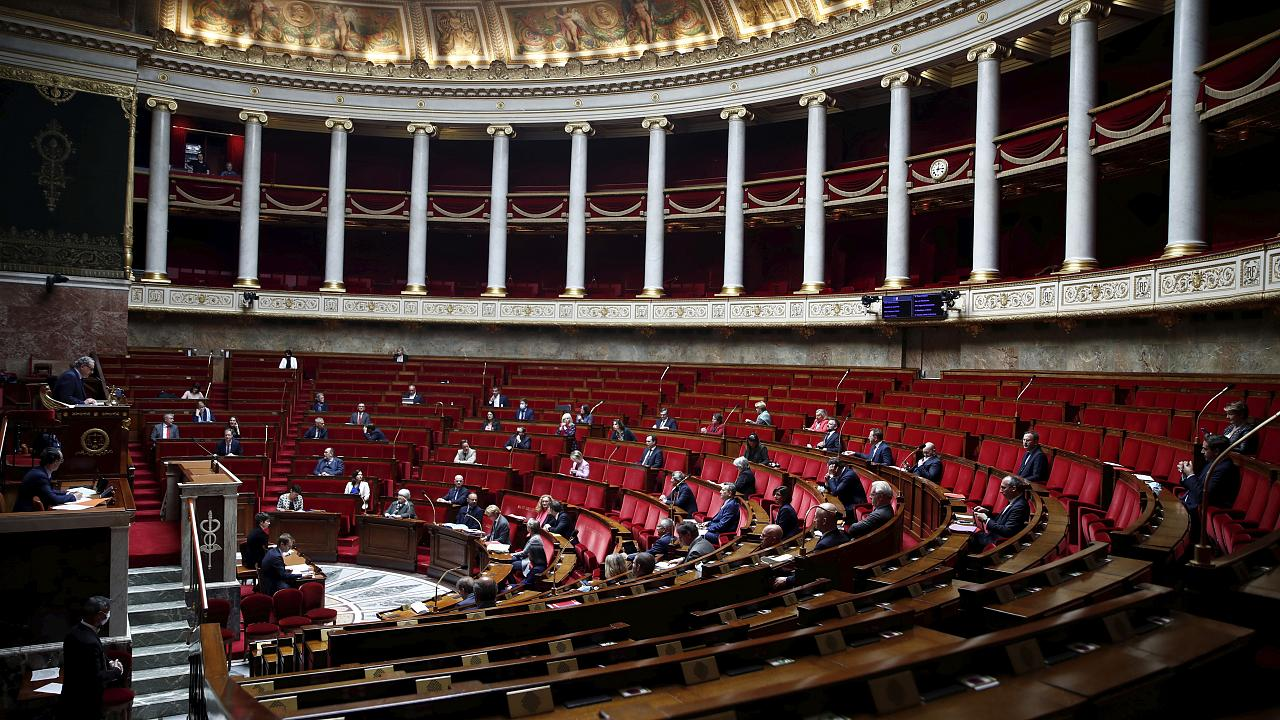 Parliament members at the National Assembly on Tuesday, May 12, 2020 in Paris.
