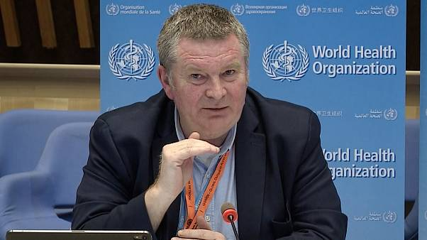 A TV grab taken from the World Health Organization website shows World Health Organization (WHO) Health Emergencies Programme Director Michael Ryan